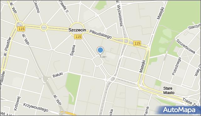 Szczecin, Plac Lotników, mapa Szczecina