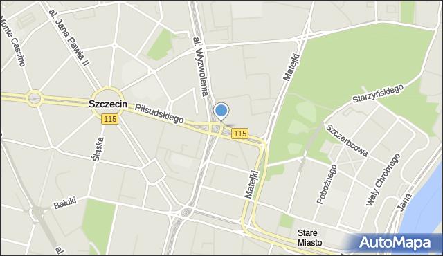 Szczecin, Plac Rodła, mapa Szczecina
