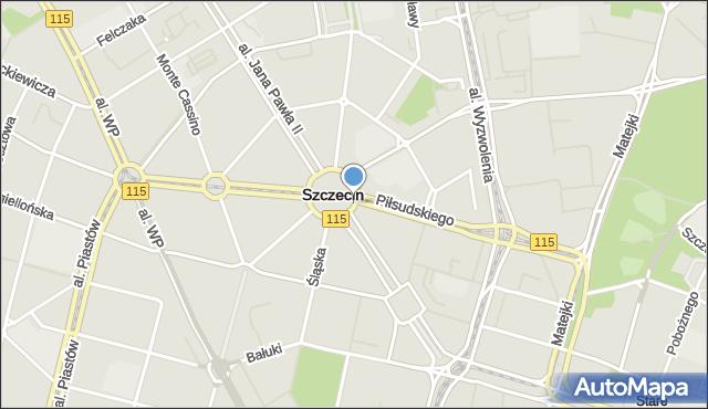 Szczecin, Plac Grunwaldzki, mapa Szczecina