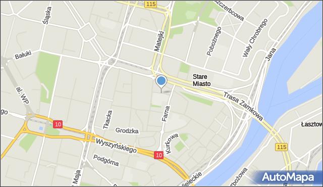 Szczecin, Plac Mariacki, mapa Szczecina