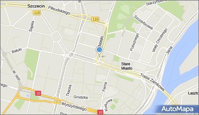 Szczecin, Plac Hołdu Pruskiego, mapa Szczecina