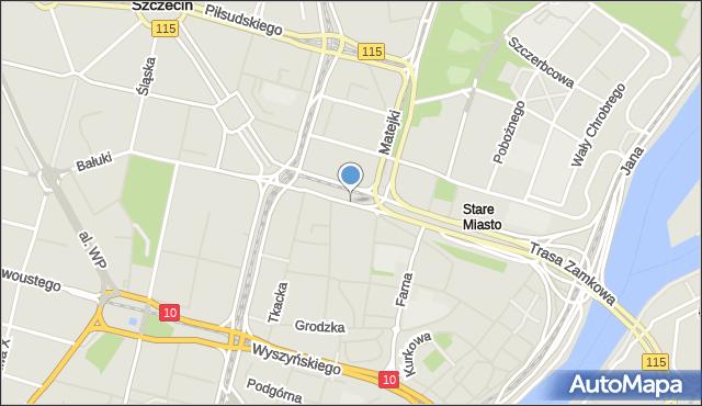 Szczecin, Plac Żołnierza Polskiego, mapa Szczecina