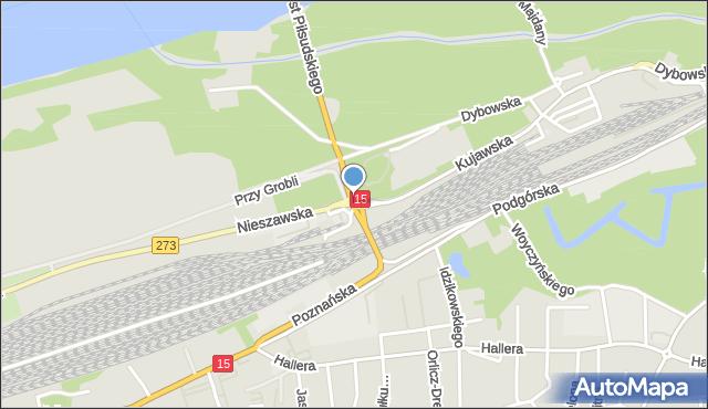 Toruń, Plac Armii Krajowej, mapa Torunia