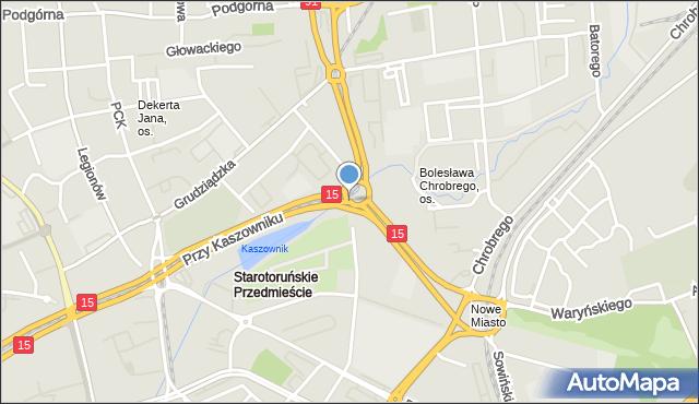 Toruń, Plac Chrapka Jana, bp., mapa Torunia