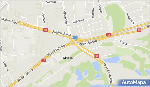 Toruń, Plac Daszyńskiego Ignacego, mapa Torunia