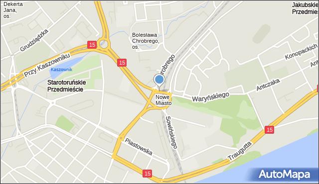 Toruń, Plac Pokoju Toruńskiego, mapa Torunia