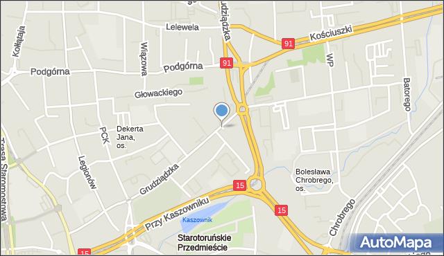 Toruń, Plac Zwycięstwa, mapa Torunia