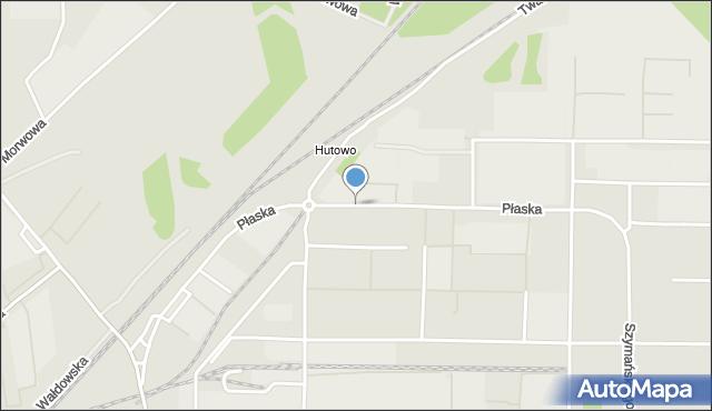 Toruń, Płaska, mapa Torunia