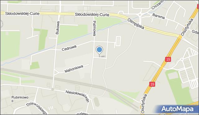 Toruń, Platanowa, mapa Torunia