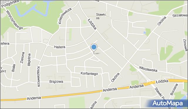 Toruń, Plebiscytowa, mapa Torunia