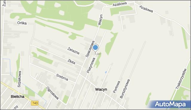 Wacyn, Platynowa, mapa Wacyn