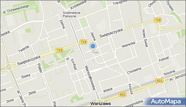 Warszawa, Plac Młynarskiego Emila, mapa Warszawy