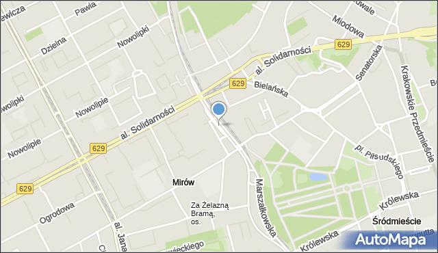Warszawa, Plac Bankowy, mapa Warszawy
