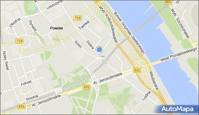 Warszawa, Plac Wóycickiej Zofii, mapa Warszawy