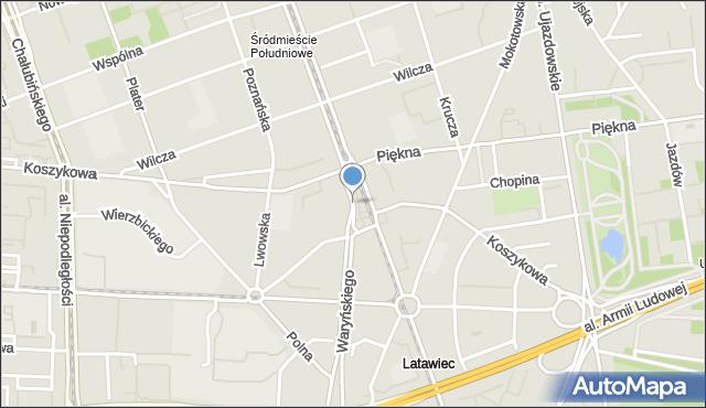 Warszawa, Plac Konstytucji, mapa Warszawy