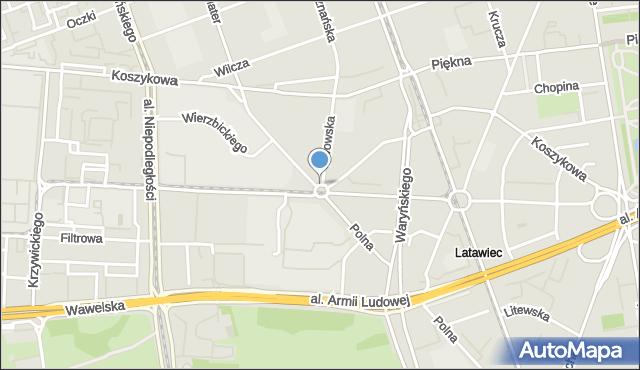 Warszawa, Plac Politechniki, mapa Warszawy
