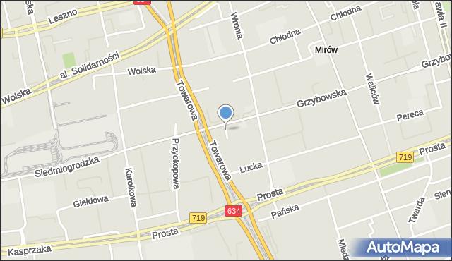 Warszawa, Plac Europejski, mapa Warszawy