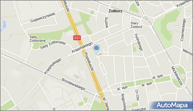 Warszawa, Plac Henkla Dionizego, mapa Warszawy