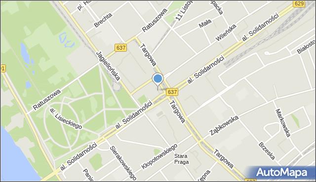 Warszawa, Plac Wileński, mapa Warszawy