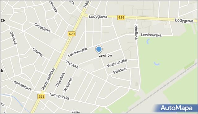 Warszawa, Płońska, mapa Warszawy