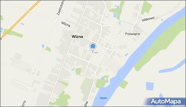 Wizna, Plac Raginisa Władysława, kpt., mapa Wizna