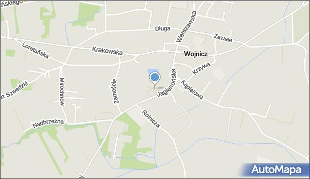 Wojnicz, Plac Pola Archidiakonów Wojnickich, mapa Wojnicz