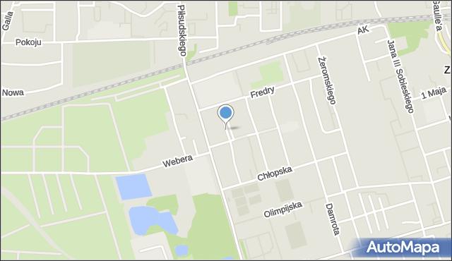 Zabrze, Plac Kopernika Mikołaja, mapa Zabrza