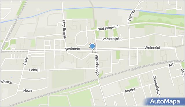 Zabrze, Plac Słowiański, mapa Zabrza