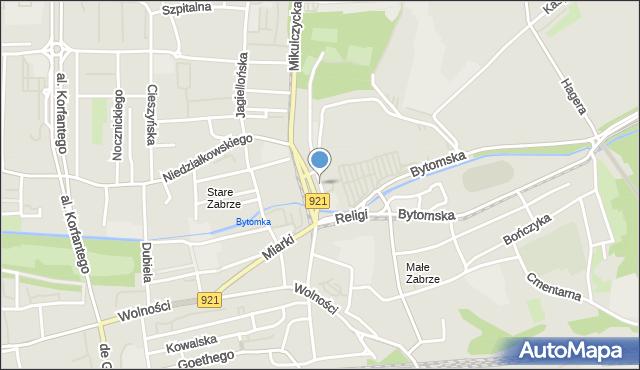 Zabrze, Plac Teatralny, mapa Zabrza