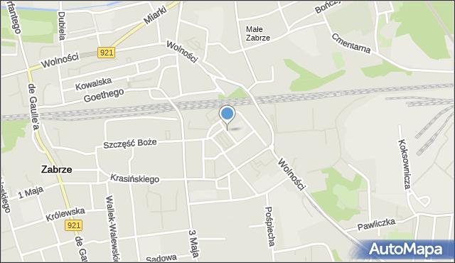 Zabrze, Plac Warszawski, mapa Zabrza