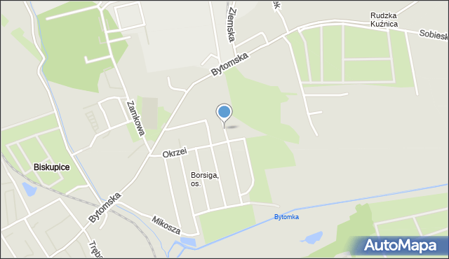 Zabrze, Plac Purkopa Bernarda, mapa Zabrza