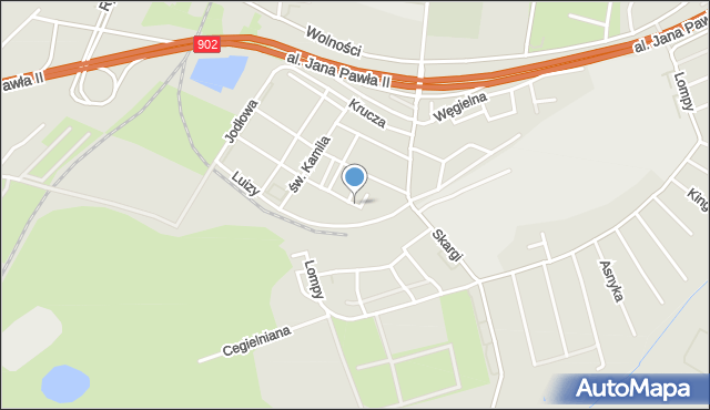 Zabrze, Plac Paderewskiego Ignacego Jana, mapa Zabrza