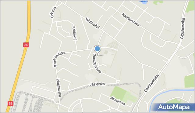 Będzin, Podgrodzie, mapa Będzin