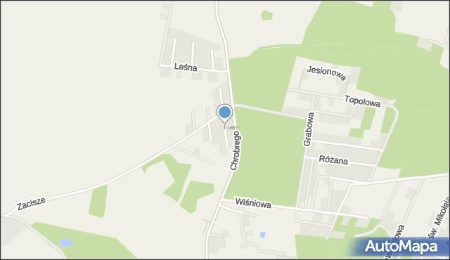 Brzezina gmina Miękinia, Pogodna, mapa Brzezina gmina Miękinia