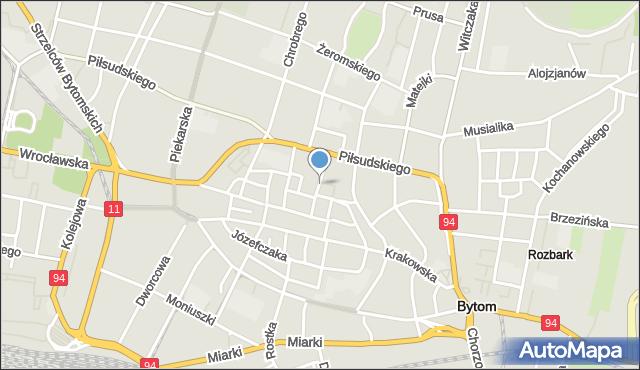Bytom, Podgórna, mapa Bytomia
