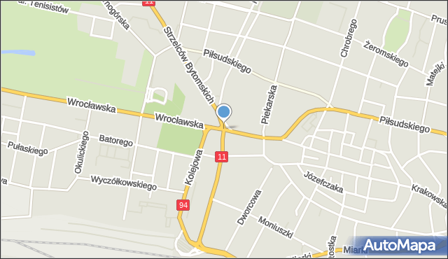 Bytom, Powstańców Warszawskich, mapa Bytomia
