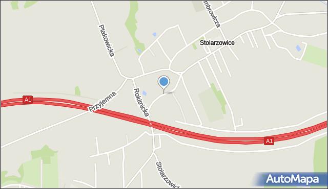 Bytom, Pochyła, mapa Bytomia