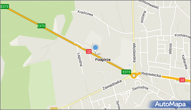 Chełm, Podgórze, mapa Chełma