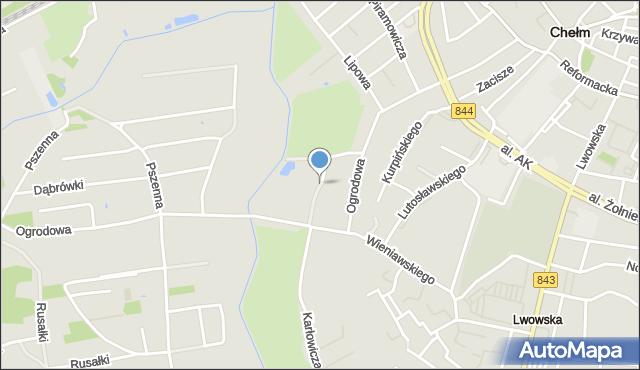 Chełm, Polna, mapa Chełma