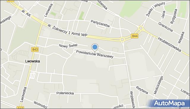 Chełm, Powstańców Warszawy, mapa Chełma