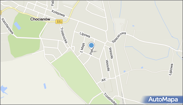 Chocianów, Polna, mapa Chocianów