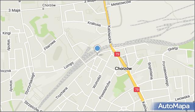 Chorzów, Pocztowa, mapa Chorzów