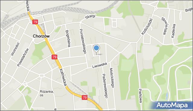 Chorzów, Pogodna, mapa Chorzów