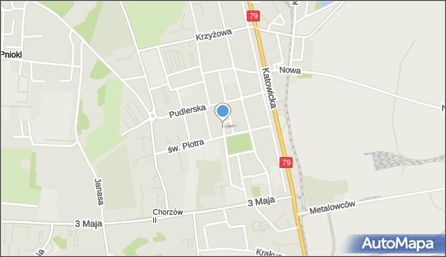 Chorzów, Poleska, mapa Chorzów