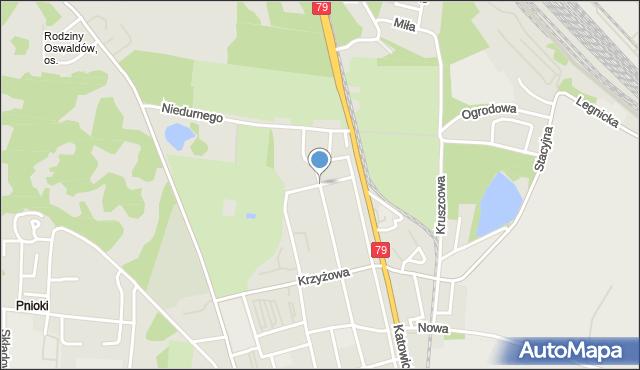 Chorzów, Polna, mapa Chorzów