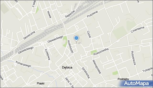 Dębica, Popiełuszki Jerzego, bł. ks., mapa Dębicy