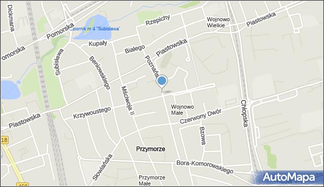 Gdańsk, Poznańska, mapa Gdańska