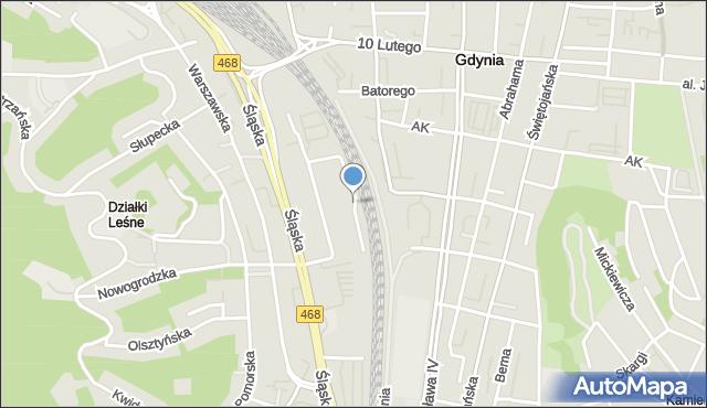 Gdynia, Poleska, mapa Gdyni