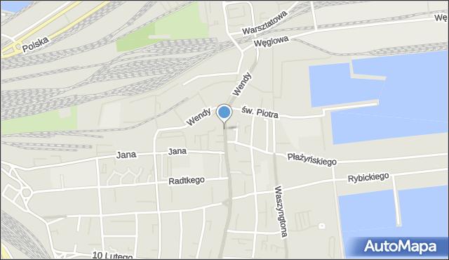 Gdynia, Portowa, mapa Gdyni