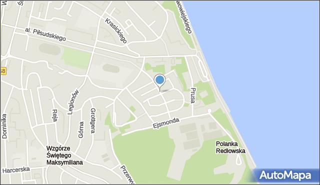 Gdynia, Pola Wincentego, mapa Gdyni